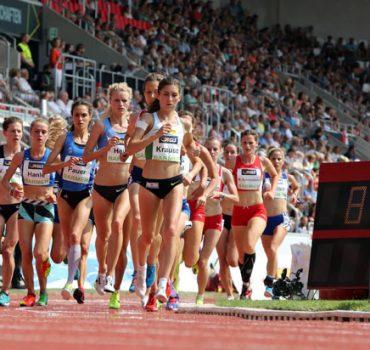 117 Deutsche Leichtathletik Meisterschaften Erfurt 09 07 2017 Impession 5000m Frauenfeld unterwe