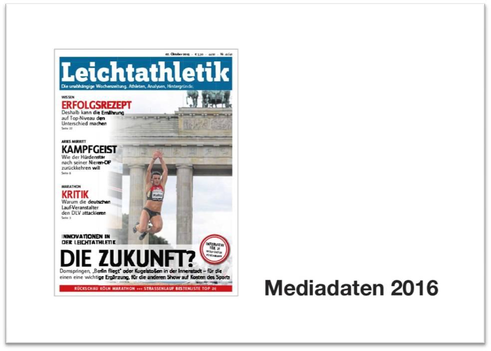 1. Seite Mediadaten LA 2016 mit Rahmen - Leichtathletik Magazin