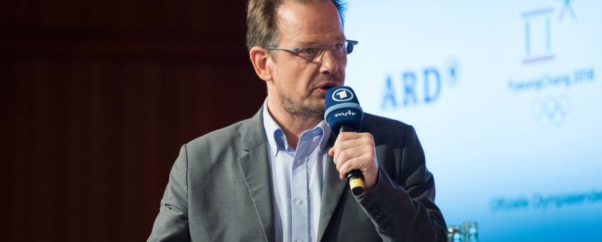 Hajo SEPPELT ARD Doping Experte ARD ZDF Olympia und Paralympics Pressekonferenz in Berlin De