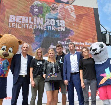 Bilder des Tages SPORT Leichtathletik Pressekonferenz zur Leichtathletik EM 2017 in Berlin Masko