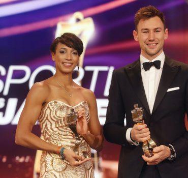 Baden-Baden , Sportler des Jahres 2019 , von links: Malaika Mihambo ( Sportlerin des Jahres ) / Niklas Kaul ( Sportler