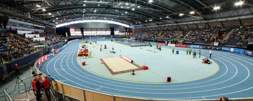 Deutsche Leichtathletik Meisterschaften 2019 in der Halle am 16 2 19 Arena Leipzig Blick in die Aren