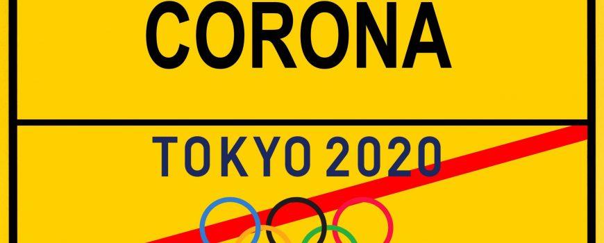 Symbolbild Absage oder Verschiebung der Olympischen Sommerspiele in Tokio 2020 wegen Coronavirus, Sars-CoV-2, Covid-19,