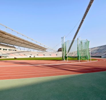 Interior of the Khalifa stadium, centerpiece of the 15th Asian Games held in December 2006 in Doha, Qatar. PUBLICATIONx