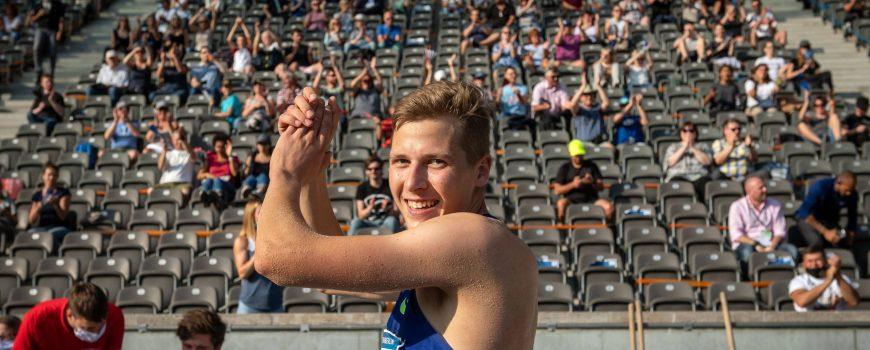 Leichtathletik Berlin 13.09.2020 ISTAF Berlin Max Heß (GER) Hess Dreisprung *** Athletics Berlin 13 09 2020 ISTAF Berlin