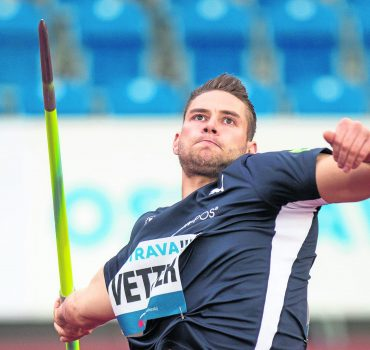 Sport Bilder des Tages Javelin thrower Johannes Vetter of Germany competes in javelin throw during the Zlata tretra (Gol